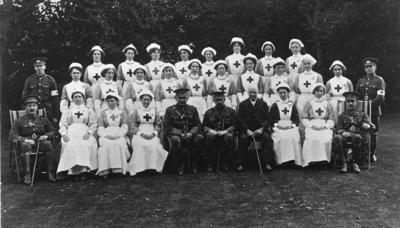 Group Photograph of an Oxfordshire Detachment with Officers; RCB/2/12/5/32