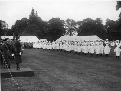 Photograph of an Inspection by Mary, Princess Royal; RCB/2/12/5/9