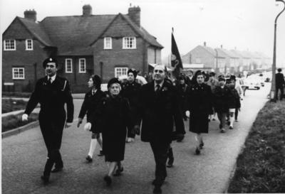 Photograph from a March by the Junior Red Cross in Oxfordshire