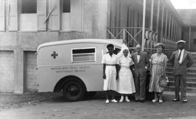 Volunteers from the Montserrat Branch of the British Red Cross
