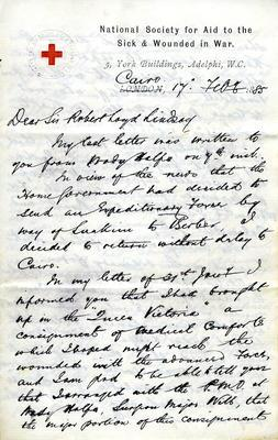 Letters to Sir and Lady Loyd-Lindsay from J.S. Young, 17 February-22 April 1885