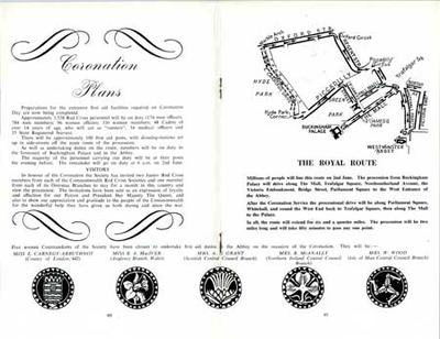Article on the coronation plans from The Red Cross Society Quarterly Review volume 40