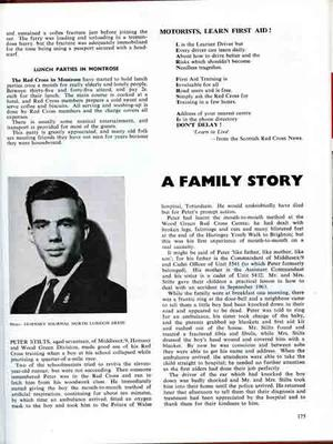 Article on Peter Stilts, member of the British Red Cross Hornsey and Wood Green division from News Review volume 10