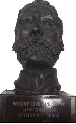 Sculpted head of Loyd Lindsay