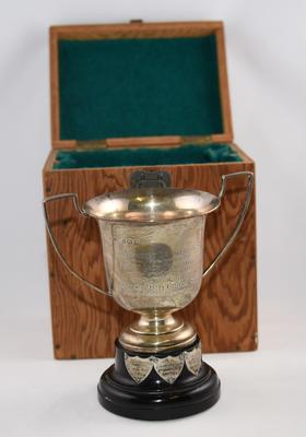 Small silver competition cup: The Beaumont Cup for Leadership
