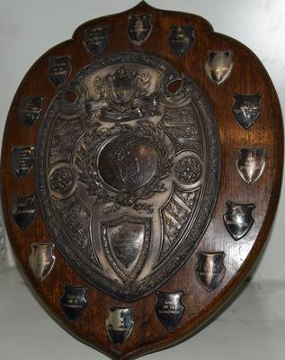 Competition shield with the inscription 'City of London Terrotorial Association VAD Challenge Shield'