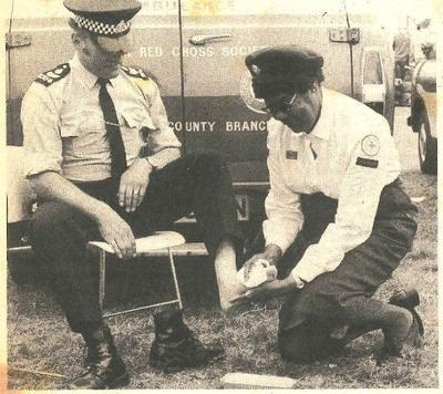 Mrs Cathy Harvey, British Red Cross first aider
