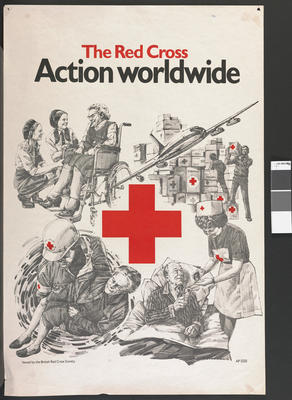 Poster advertising the work of The Red Cross