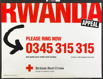 poster produced for the Rwanda Appeal