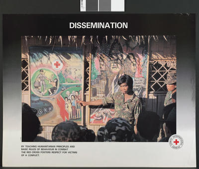 One of a set of four colour ICRC posters: Dissemination