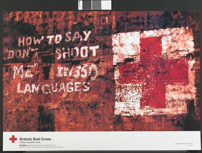 "poster: 'How to say ""Don't shoot me""in 350 languages'"