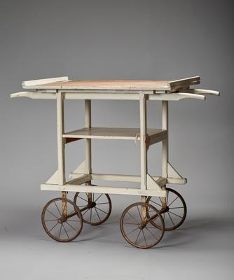 wooden dressings trolley