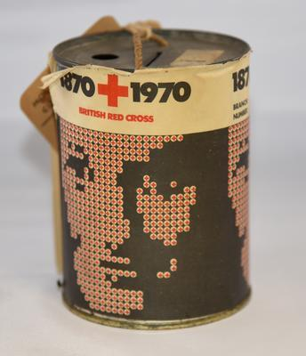 British Red Cross Centenary Collecting tin
