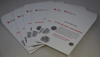 Set of 10 collecting envelopes: 'Coins that Care' campaign