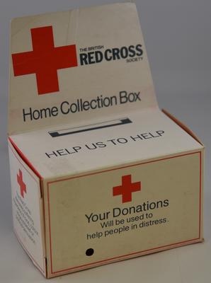 Small home collection box, 'Help Us to Help'