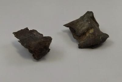 Two pieces of shrapnel