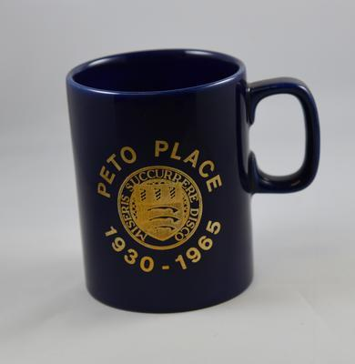 Commemorative mug: Peto Place 1930-1965