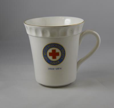 "Mug: ""The British Red Cross Society Junior 1924-1974"""