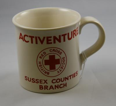 Mug: Activenture Sussex Counties Branch; Holkham Pottery Ltd (estab. 1951, closed 2008); Social Care/mug; 2739/1