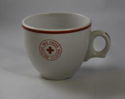 Branded cup: British Red Cross Society