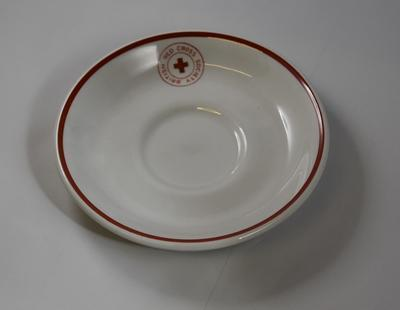Branded saucer: British Red Cross Society