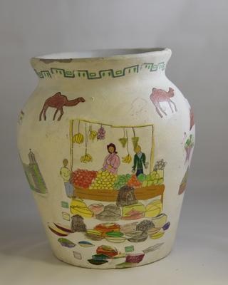 Vase titled 'Home'