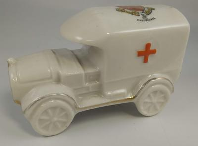 China ambulance with 'Eastbourne' coat of arms