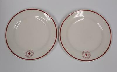 Two British Red Cross Society branded plates