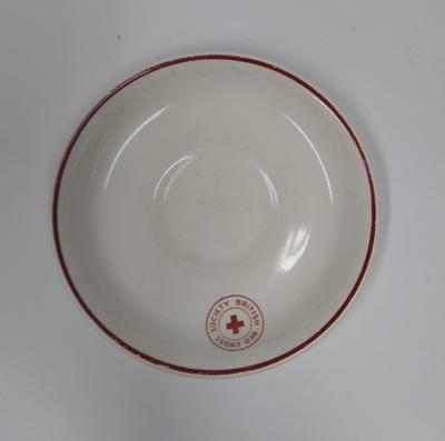 British Red Cross Society branded saucer.