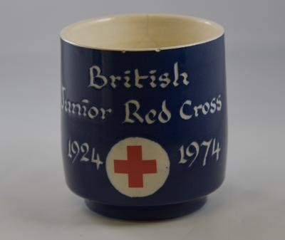 50th Anniversary mug: 'British Junior Red Cross 1924 - 1974'
