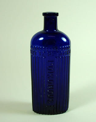 Glass poison bottle
