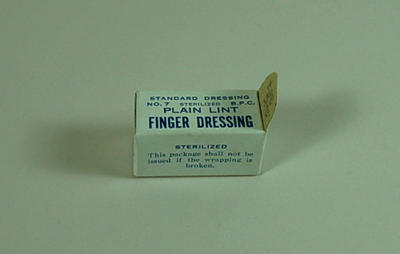 Lint finger dressing