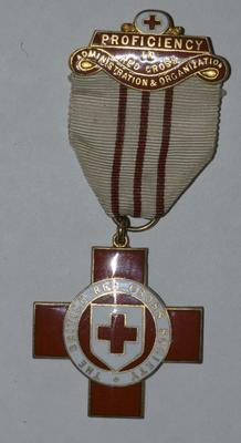 Proficiency badge in Red Cross Administration and Organization.