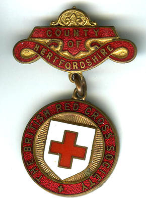 British Red Cross Hertfordshire County badge