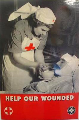 Poster produced by the British Red Cross Society and the Order of St John for fundraising purposes.
