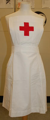 Member's indoor uniform white apron
