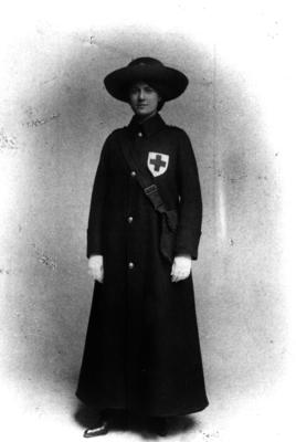 The first British Red Cross women's outdoor uniform; IN0008