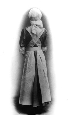 Rear view of VAD uniform