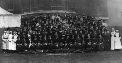 Group photograph of the staff of the VAD Department at Devonshire House, London