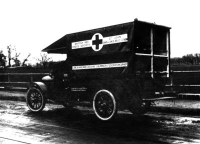 An ambulance in France during the First World War