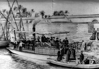 'Queen Victoria' hospital launch on the Nile during the Egyptian Campaign