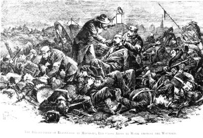 Artist's impression of the Battle of Rezonville during the Franco-Prussian War