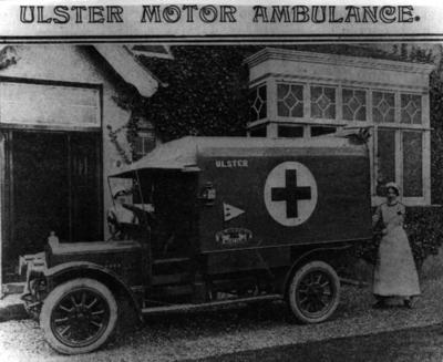 Ulster motor ambulance during the First World War