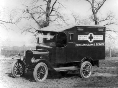 Ford ambulance used in the home ambulance service