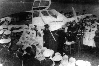 The first British air ambulance