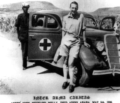 Photograph of Dr John Melly in Ethiopia during the Italian-Ethiopian War