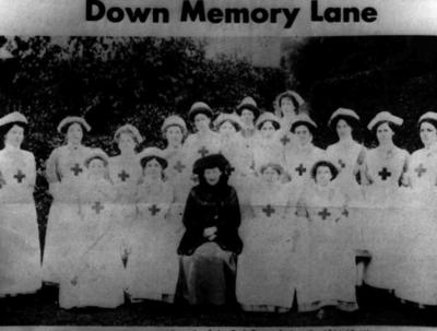 Members of the Montgomery Branch of the British Red Cross
