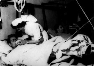 Hospital ward in Italy during the Second World War