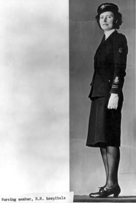 Uniform worn by female nursing members serving in Royal Naval hospitals