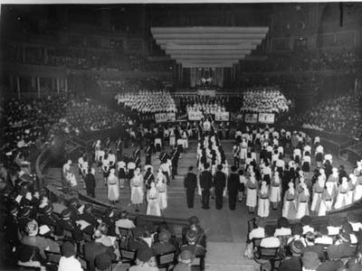 Pageant to celebrate the silver jubilee of the Junior Red Cross held at the Royal Albert Hall, London; IN0142